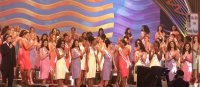 Host Jack Wagner announces the top 10 Delegates to the 1999 Miss Universe Pageant
